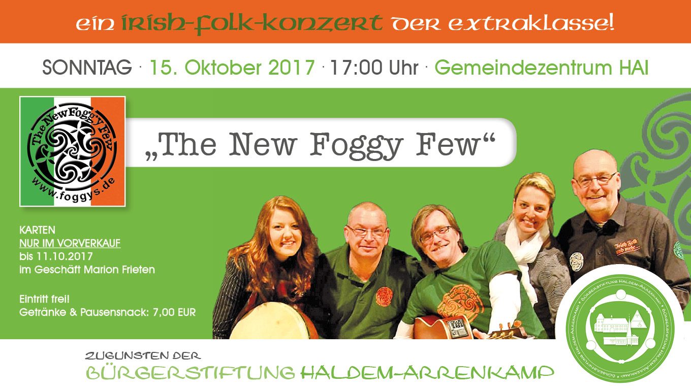 Irish Folk der Spitzenklasse: The New Foggy Few