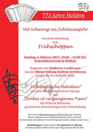 """Frühschoppen mit musikalischer Untermalung durch die Akkordeongruppe """"Die Oldies"""""""