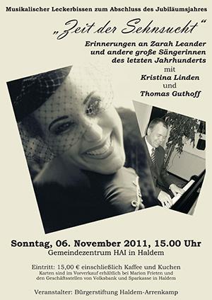 """Christina Linden und Thomas Guthoff lassen """"Erinnerungen an Zarah Leander..."""" aufleben"""