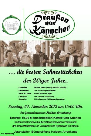 """Konzert mit dem Musik-Quintett """"Draußen nur Kännchen"""""""