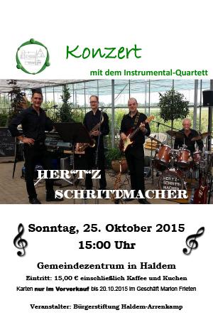 """Konzert mit dem Instrumental-Quartett """"Her(t)zschrittmacher"""""""