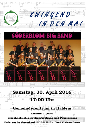 Swingeng in den Mai mit der Söderblom Big Band