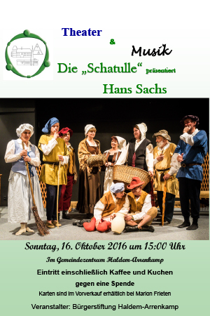 """Die """"Schatulle"""" präsentierte Hans Sachs"""